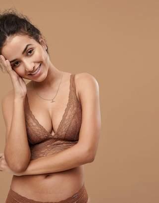 Dorina Tone On Tone Lana Nude Non Padded Bralette In Medium