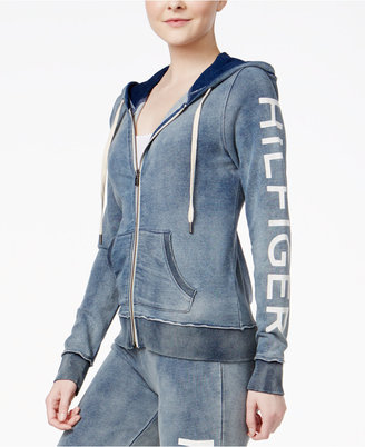 Tommy Hilfiger Sport Cotton Logo Hoodie, A Macy's Exclusive $79 thestylecure.com