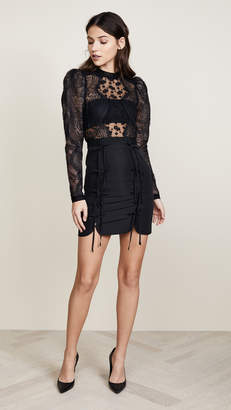 Self-Portrait Self Portrait Lace Applique Mini Dress