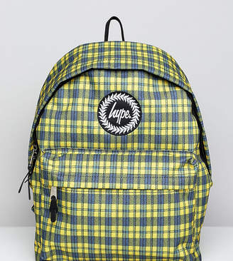 Hype Exclusive Yellow Check Backpack