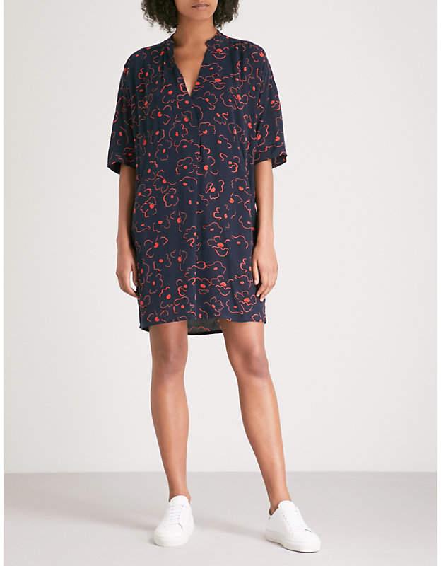 Magnolia printed V-neck dress