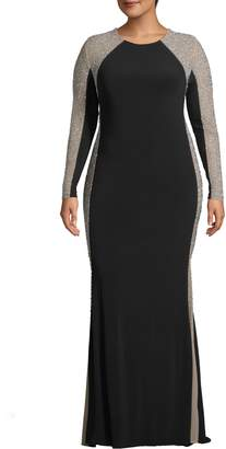 Xscape Evenings Caviar Bead Dress