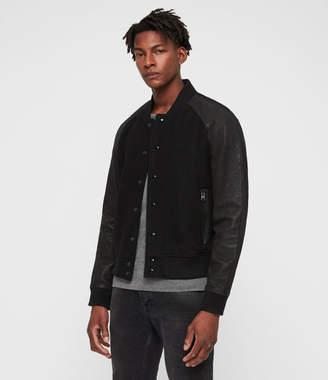AllSaints Elton Leather Bomber Jacket