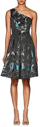 Cynthia Rowley WOMEN'S BIRD & FLORAL BROCADE ONE-SHOULDER DRESS