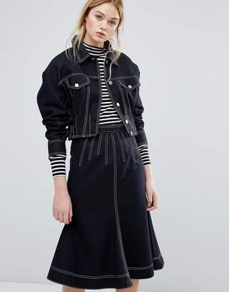 Sportmax CODE Code Alcamo Denim Look Jacket Co-Ord