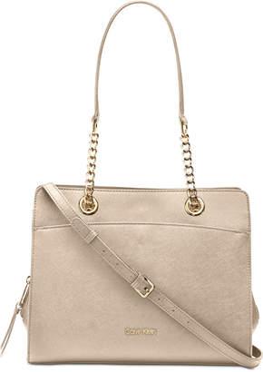 47611f0e7 Calvin Klein Beige Saffiano Leather Handbags - ShopStyle