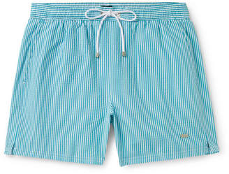431d5626 HUGO BOSS Mid-Length Striped Seersucker Swim Shorts