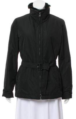 Armani Collezioni Fur-Trim Zip-Up Jacket