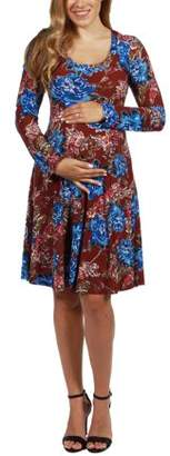 af77652595971 24 7 Comfort Apparel Breath of Fresh Air Maternity Dress-- available in Plus