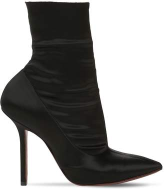 Vetements 110mm Stretch Satin Ankle Boots