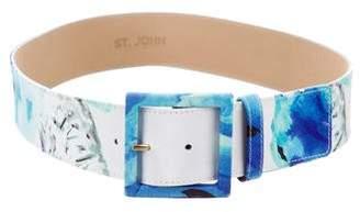 St. John Satin Print Hip Belt