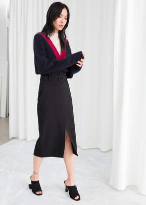 And other stories Belted Midi Pencil Skirt