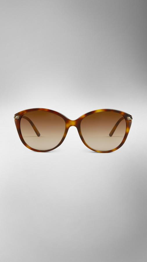 Burberry Cat-Eye Tortoiseshell Sunglasses