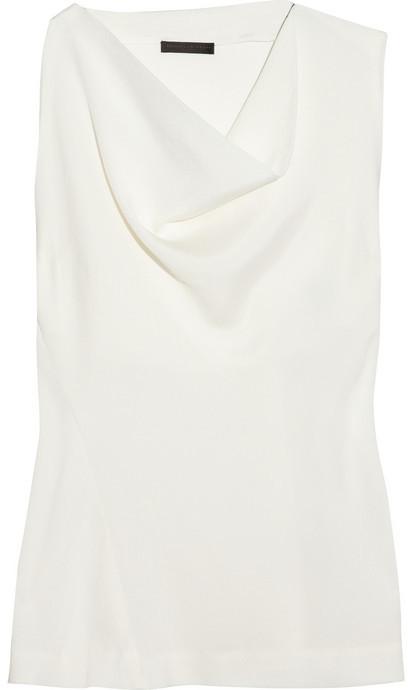 Donna Karan Draped crepe top