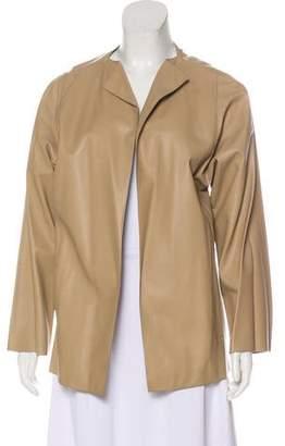 Dusan Dušan Open Front Leather Jacket
