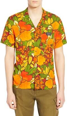 Scotch & Soda Hawaiian Fit Print Camp Shirt