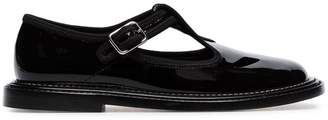 Burberry black alannis patent-leather mary jane shoes