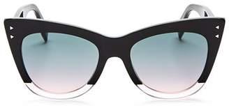 Fendi Women's Two Tone Cat Eye Sunglasses, 50mm