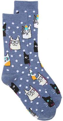 K. Bell Party Cats Crew Socks - Women's