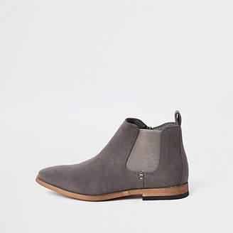 River Island Boys grey Chelsea boots