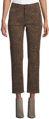 Alexander Wang Cult Cropped Leopard-Print Jeans