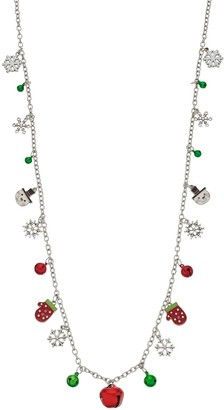 Christmas Charm & Bells Long Necklace
