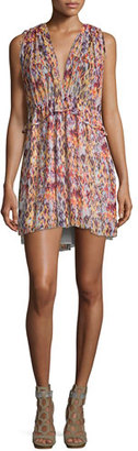 Iro Plum Sleeveless Printed Mini Dress, Orange $425 thestylecure.com