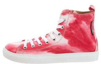 DSQUARED2 Tie-Dye High-Top Sneakers w/ Tags