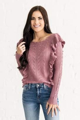 Everyday ShopRachel Parcell Berry Cute Ruffle Sweater