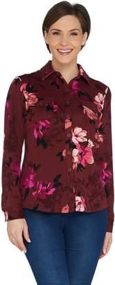 Denim & Co. Brushed Heavenly Jersey Long Sleeve Printed Top