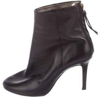 Isabel Marant Leather Round-Toe Boots