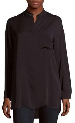 Max MaraTilde Solid Silk Shirt