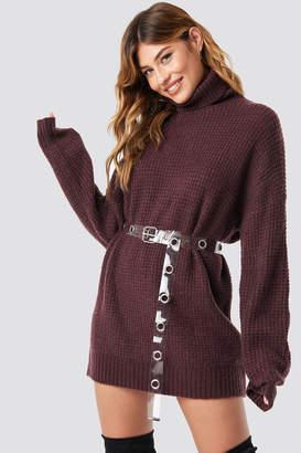 NA-KD Linn Ahlborg X Chunky Oversize Polo Sweater