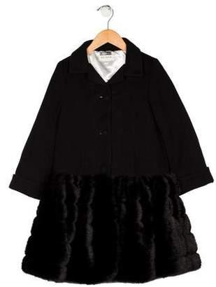 Helena Girls' Button-Up Coat