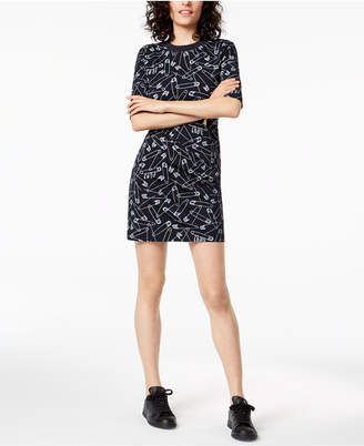 Love Moschino Safety Pin Shirtdress