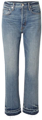 Helmut Lang Cropped High-rise Straight-leg Jeans - Blue