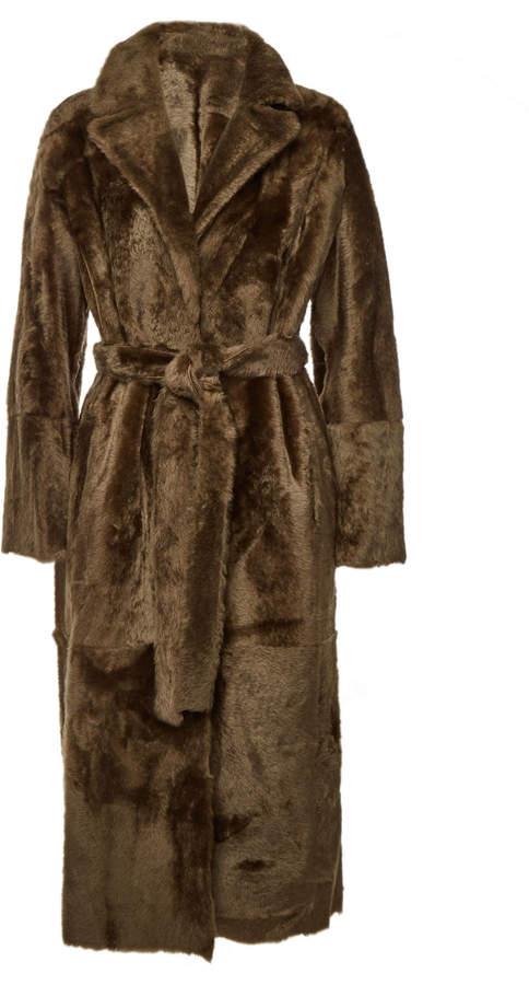 Lacon Reversible Fur Coat with Lambskin