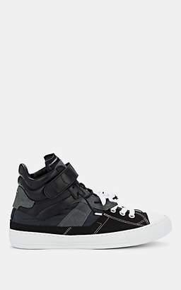 Maison Margiela Men's Evolution Mixed-Material High-Top Sneakers - Black