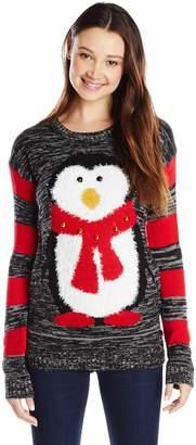 Original Penguin Derek Heart Junior's with Jingle Bells Ugly Christmas Sweater