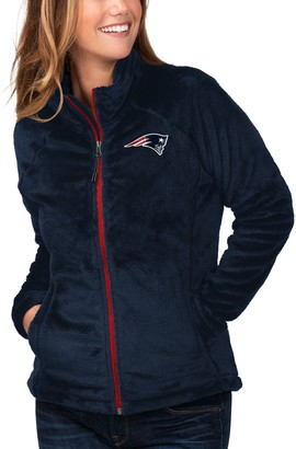 G Iii Women's G-III 4Her by Carl Banks Navy New England Patriots Field Goal Fleece Full-Zip Jacket