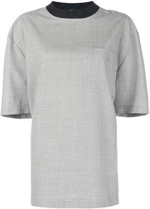 Alexander Wang chest pocket oversized blouse
