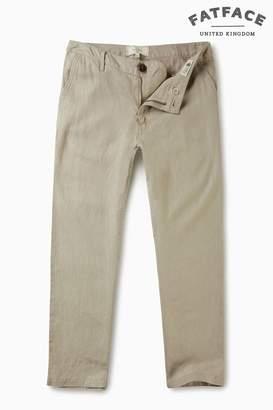 Next Womens FatFace Misty Surf Linen Crop Trouser