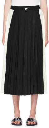 Valentino Pleated Jersey Midi Skirt
