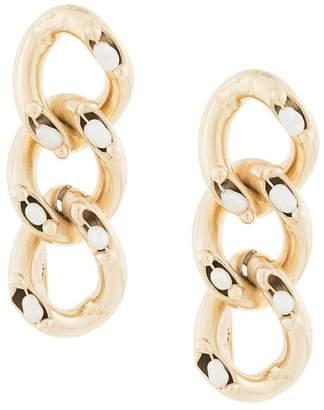 Rosantica pearl embellished chain earrings