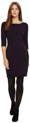 Phase Eight Purple Helene Heat Fix Shift Dress
