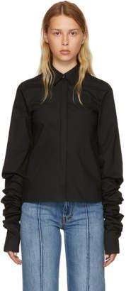 MM6 MAISON MARGIELA Black Parachute Poplin Extra Long Sleeve Shirt