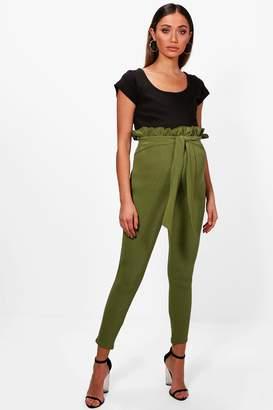 boohoo Maternity Paper Bag Skinny Trouser