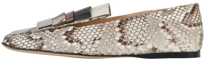 Sergio RossiSergio Rossi Python Slipper With Fringes