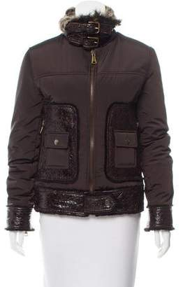 Dolce & Gabbana Shearling-Trimmed Short Coat
