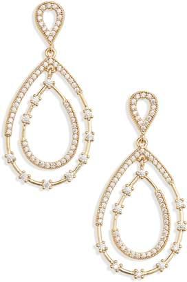 Nordstrom Crystal Teardrop Earrings